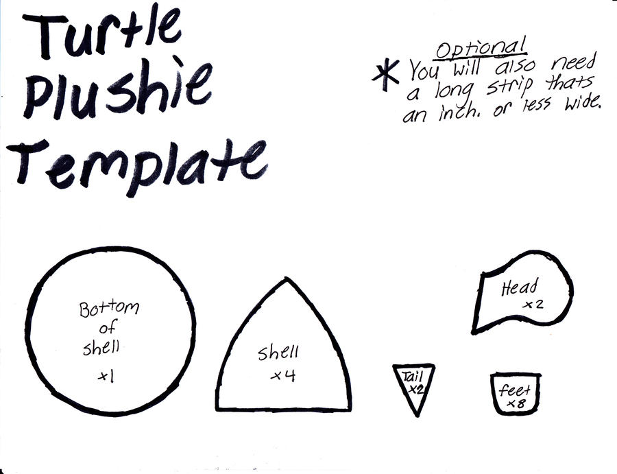 felt plushie templates - turtle plushie template by grnmarco on deviantart