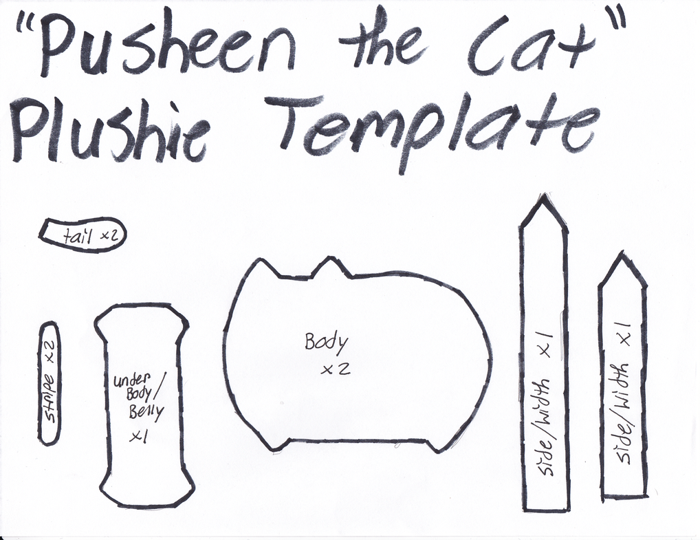 Pusheen The Cat Template By GrnMarco On DeviantArt