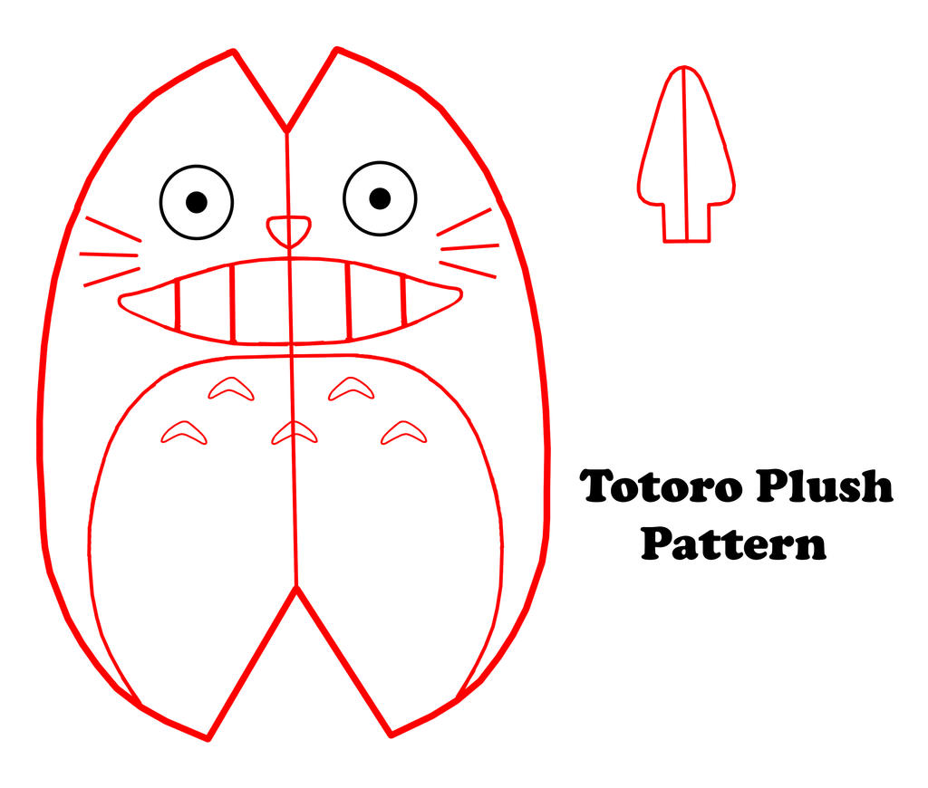 Very Easy Totoro Plush Pattern by GrnMarco