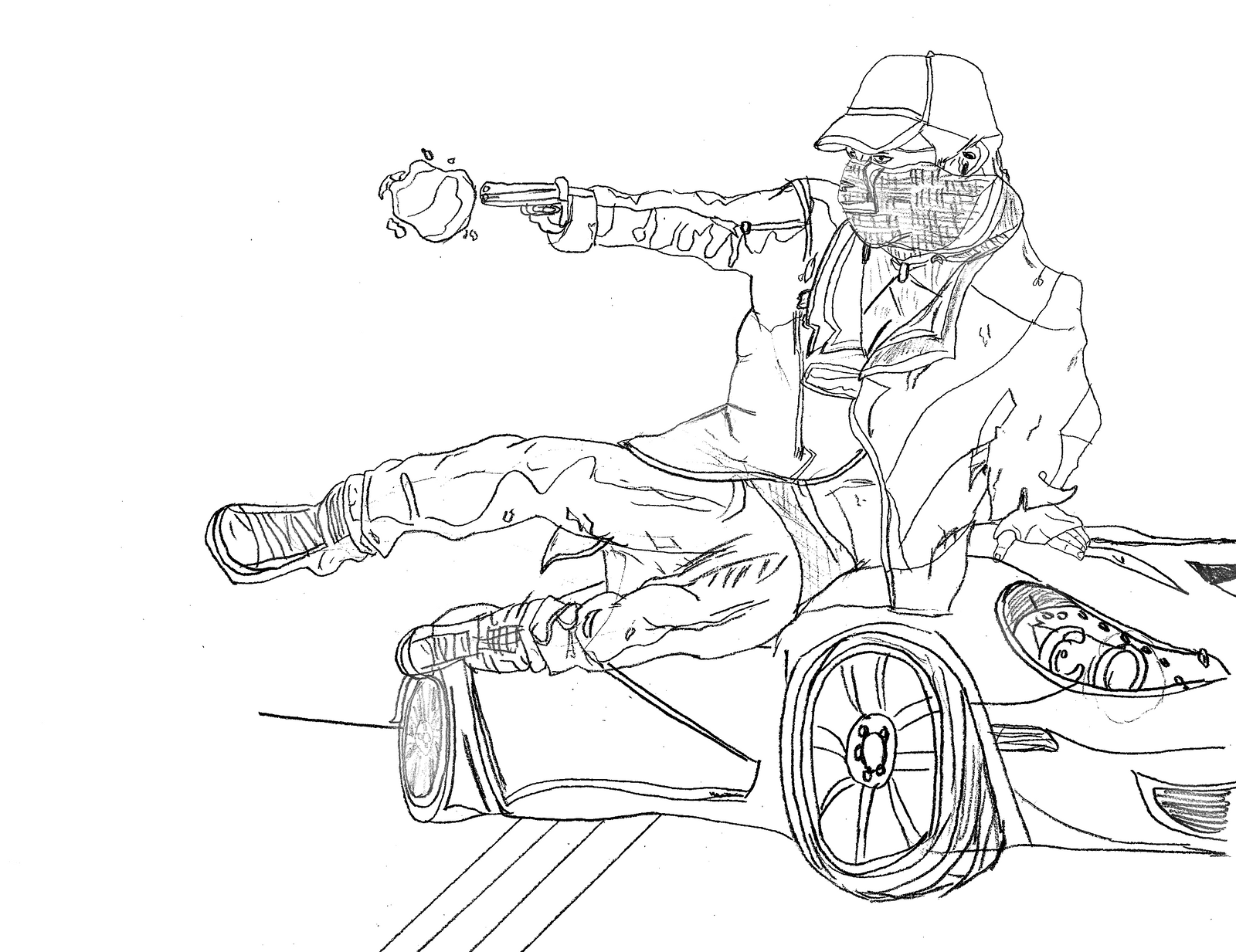 Watch Dogs Aiden Pearce Drawing By LegendaryRey On DeviantArt