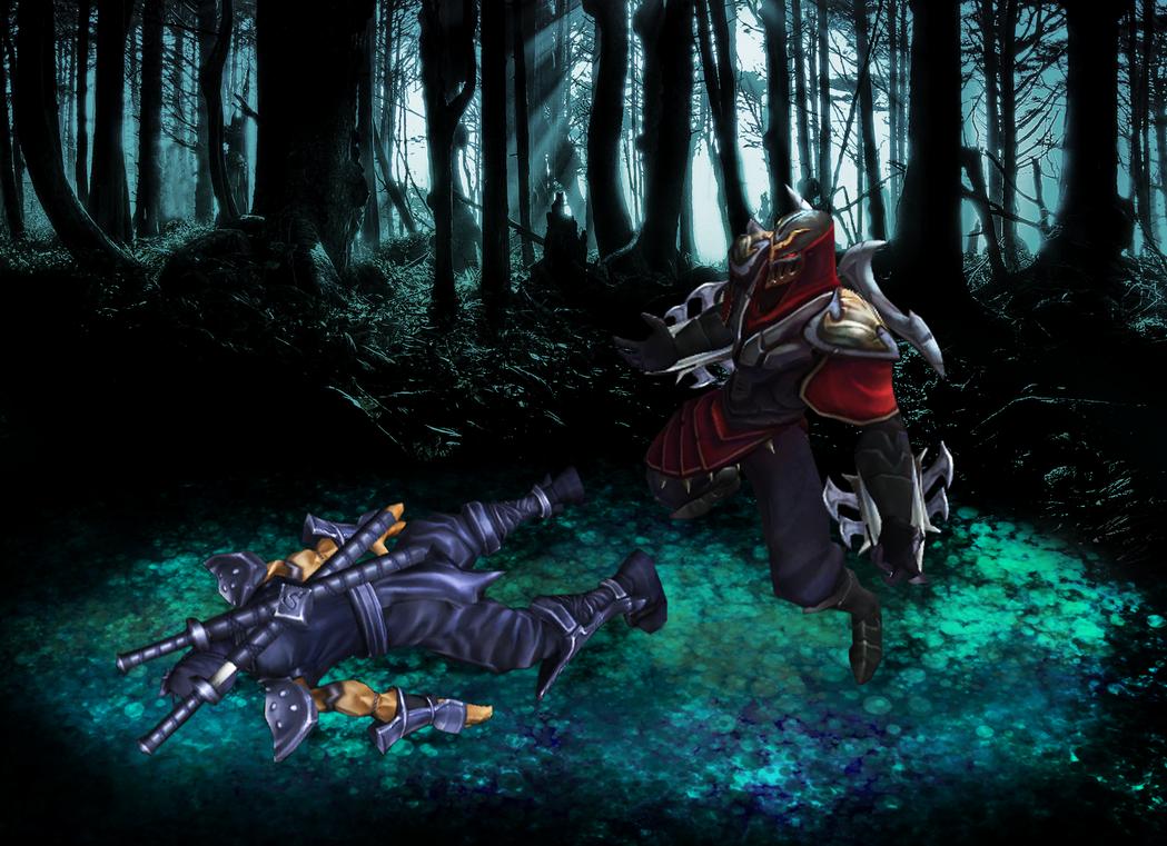 Zed vs Shen by LegendaryRey