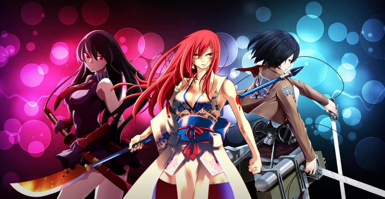 Anime Girls Wallpaper by LegendaryRey