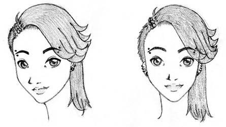 Haru Heads by mekoness