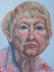 little old lady face study by rachelab74
