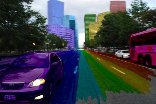 Rainbow colored Denver