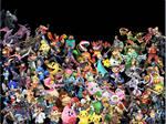Smash Bros Ultimate Collage