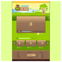 Webdesign: Reading Bear by instantsoul