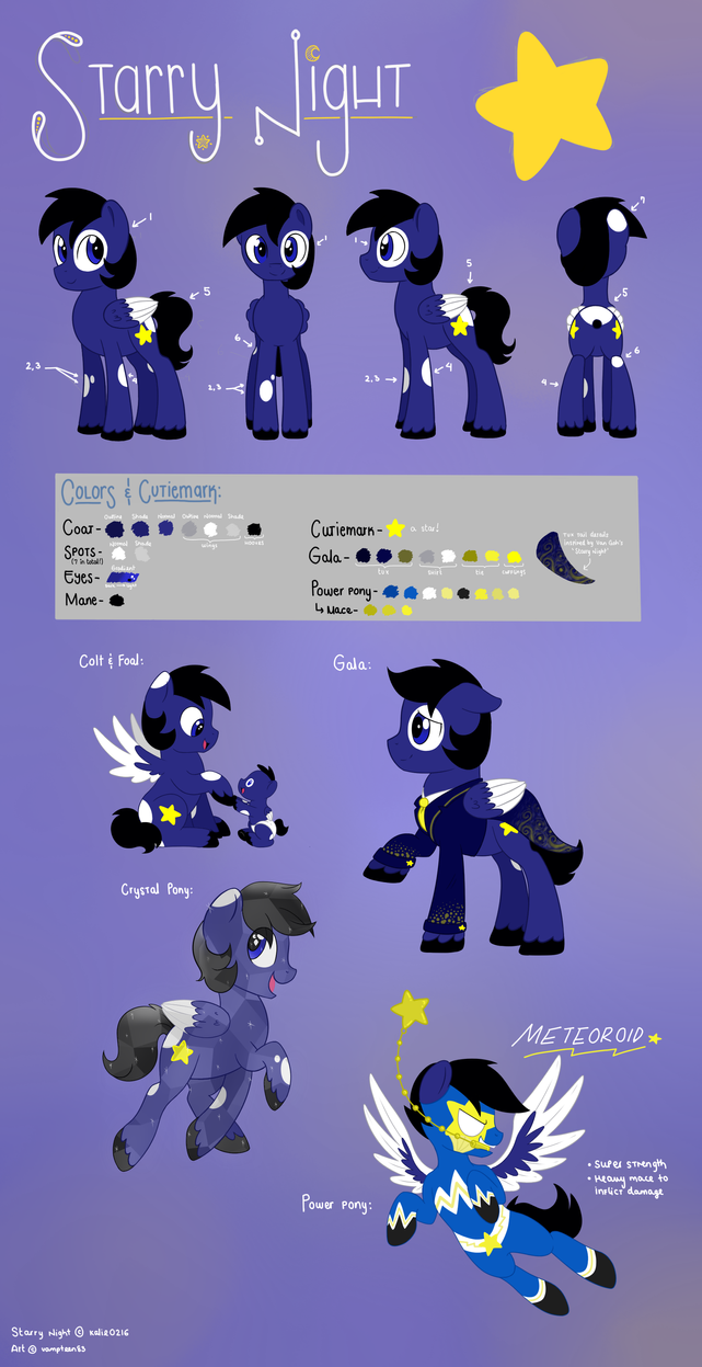 Commish: Starry Night Simple Ref by VampTeen83