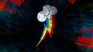 Fractal Effect Cutie Mark Wallpaper -- Rainbow Das