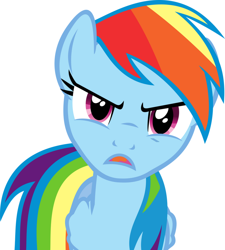 Angry Rainbow Dash by uxyd