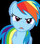 Angry Rainbow Dash