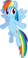 Flying Rainbow Dash Vector