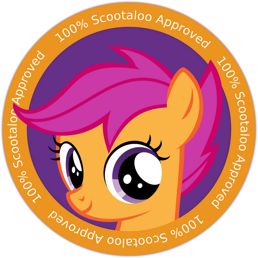 Scootaloo's Badge of Approval by uxyd