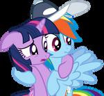 Twilight Dashie awkward hug