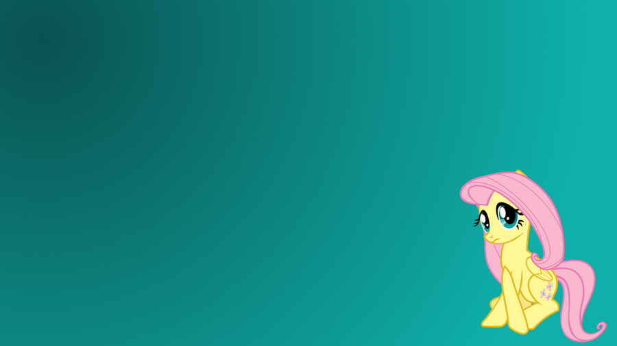 Simple Gradient Wallpaper for Fluttershy by uxyd