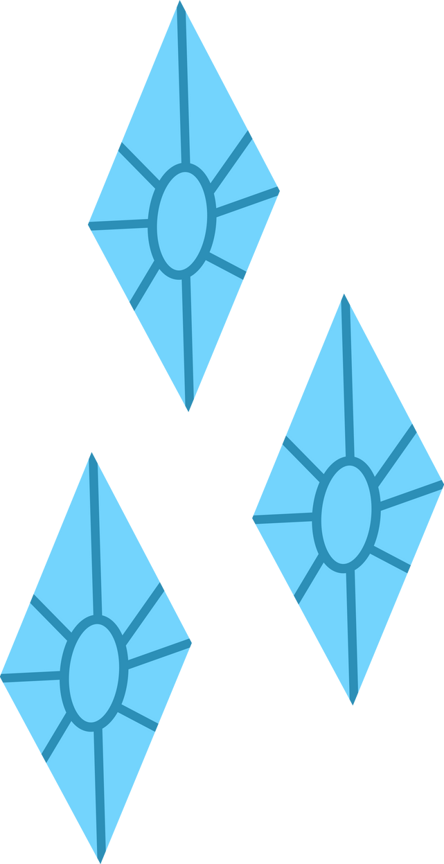 Rarity Cutie Mark Vector by uxyd