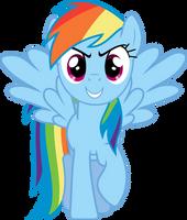 Bold Rainbow Dash by uxyd