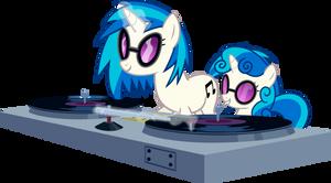 DJ Ponies by uxyd