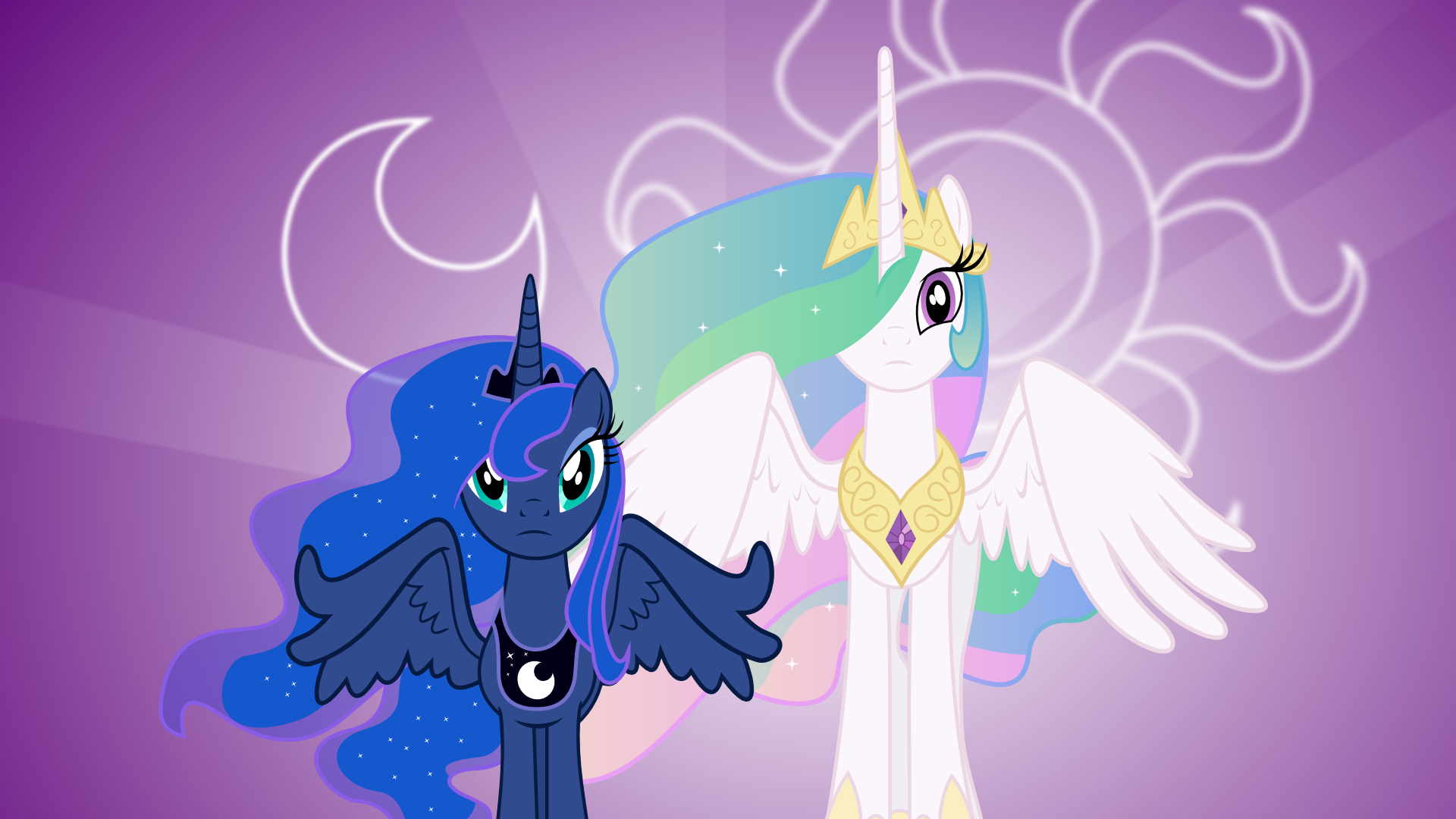 Luna Celestia Wall by uxyd