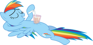 Chillin Rainbow Dash