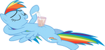 Chillin Rainbow Dash by uxyd