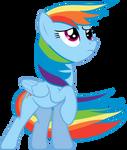 Windswept Rainbow Dash