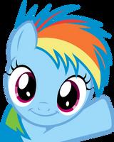 Rainbow Dash Filly - Oh Hey! by uxyd