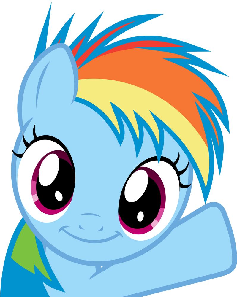 Rainbow Dash Filly - Oh Hey! by uxyd on DeviantArt