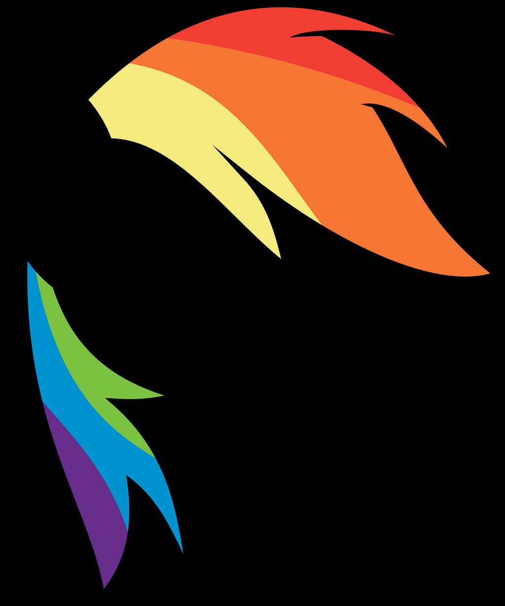 Minimal Rainbow Dash Thing by uxyd