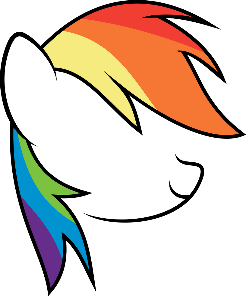 Minimal Rainbow Dash Thing by uxyd