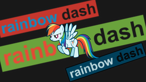 Rainbow Dash Wallpaper (text banner)