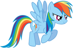 Another Flying Rainbow Dash Vector