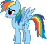 Pix-Art Rainbow Dash Vector