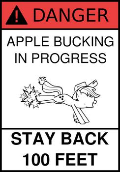 Danger: Apple Bucking