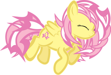 Fluttershy Abstract by uxyd