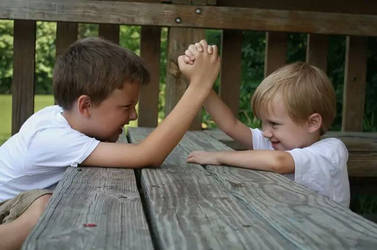 Brother Arm Wrestling Match by alexislind