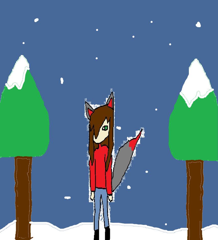 Snow Wolf by KathrineDavis