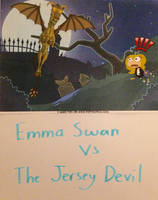 Emma Swan vs The Jersey Devil by NiceFoxPop