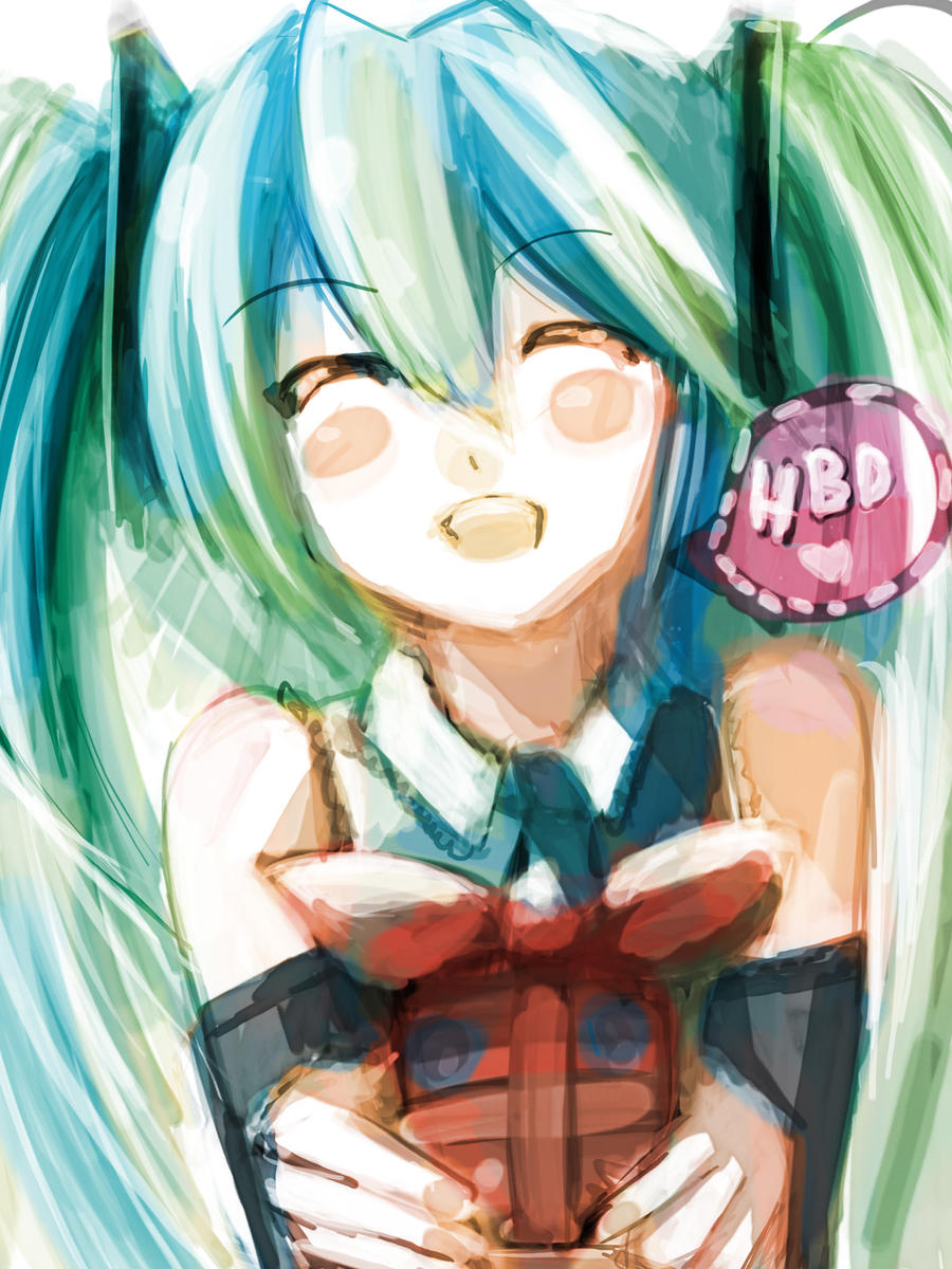 Miku HBD by R-chura