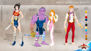WW cartoon show: About work and beauty by tremary