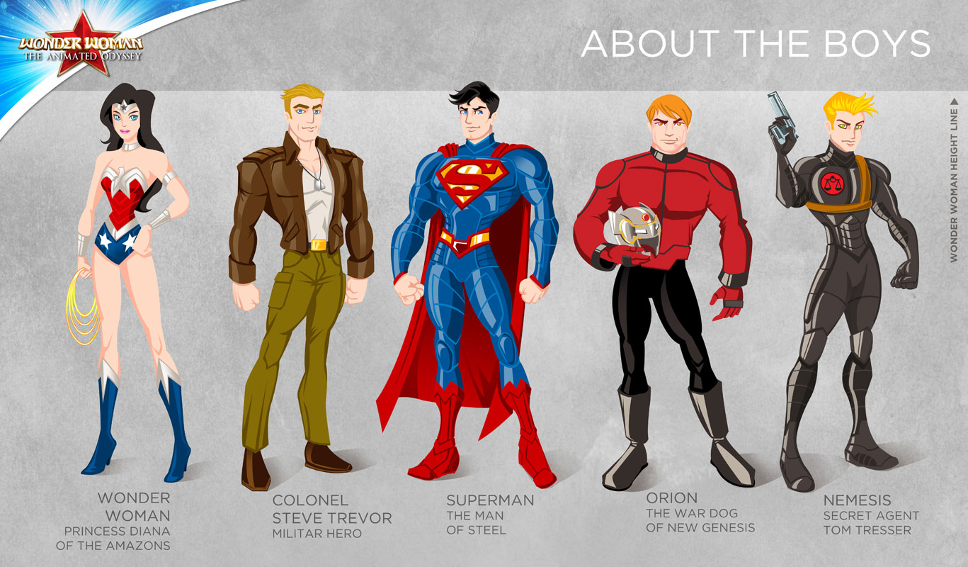 wonder woman cartoon show about the boys by tremary