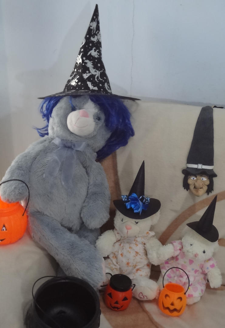 Halloween Witches of plush by jaycebrasil