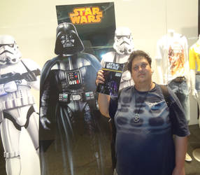 Darth Vader and STAR WARS Comic Book in my hand by jaycebrasil
