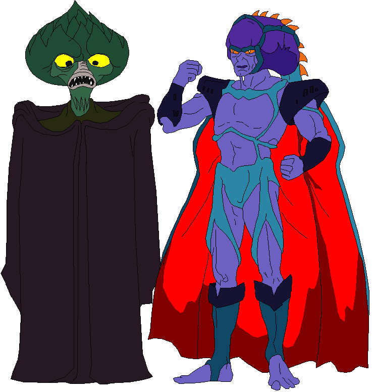 Sawboss and evilseed by jaycebrasil