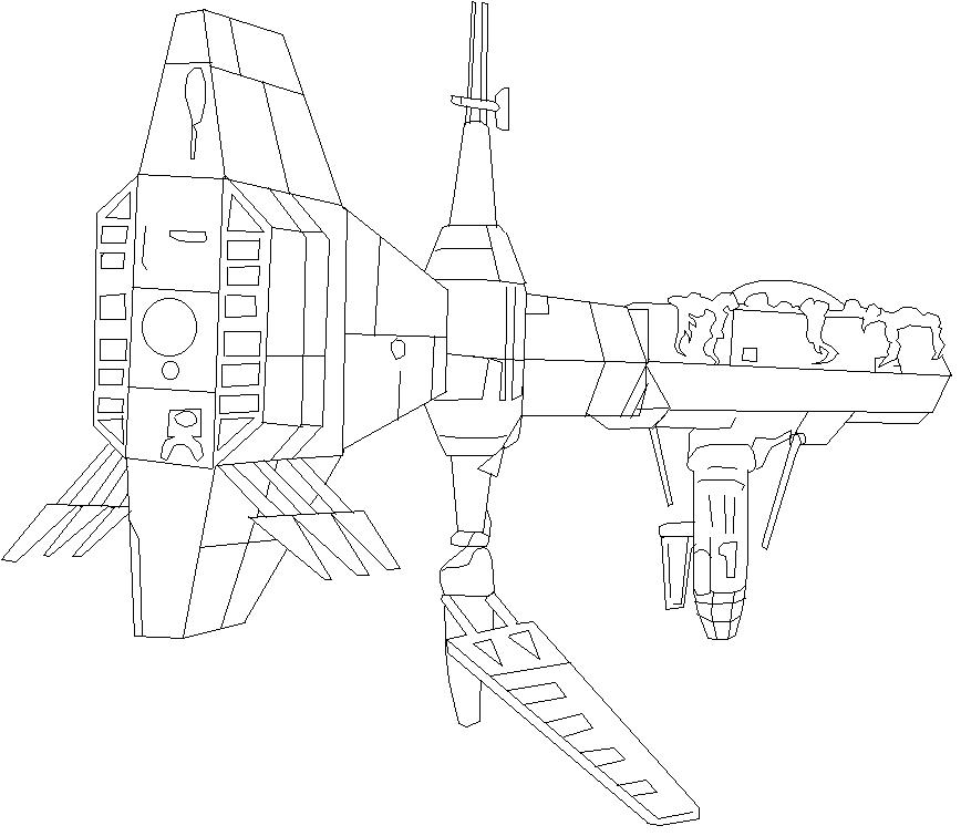 Monster Mind Starship Cruiser 001 by jaycebrasil