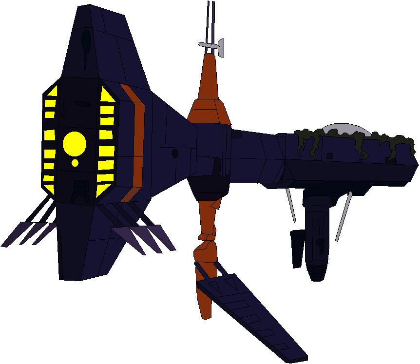 Monster Mind Starship Cruiser 002 by jaycebrasil