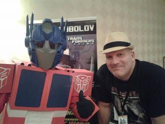 Optimus meets Shockwave!