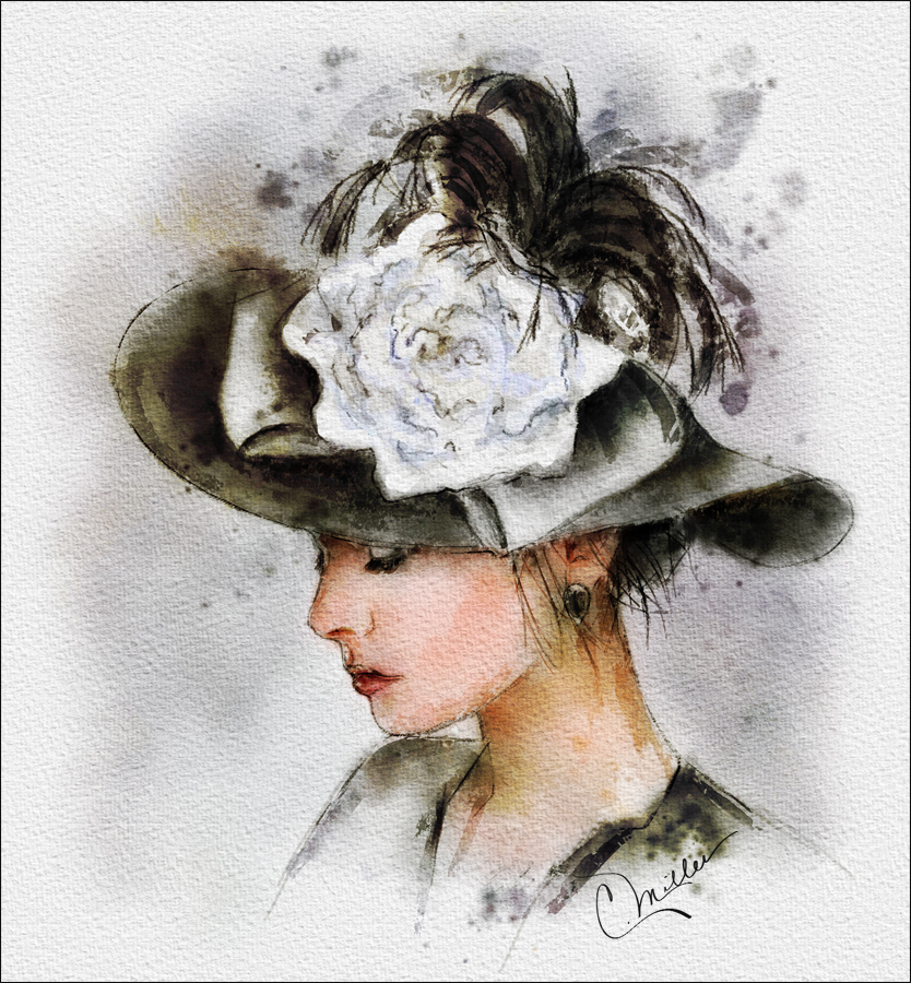 White Rose Hat_TwiggXStock by paintercharlie