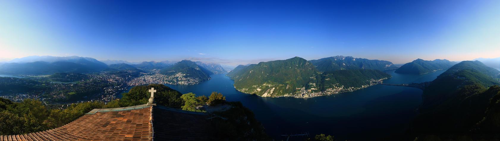Lugano Panorama by dmakreshanski