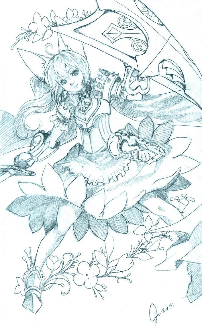 Commission: Sarah by Azu-Chan